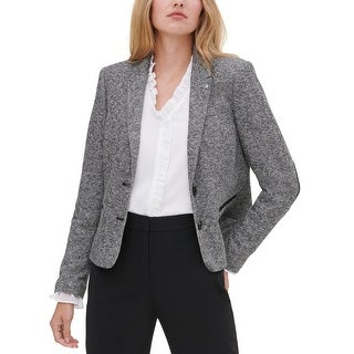 Link to Tommy Hilfiger Womens Two-Button Blazer Marled Business - Navy Similar Items in Suits & Suit Separates