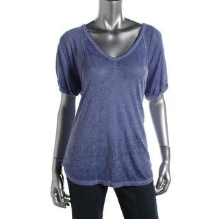 Free People Womens Heathered Oversized T-Shirt
