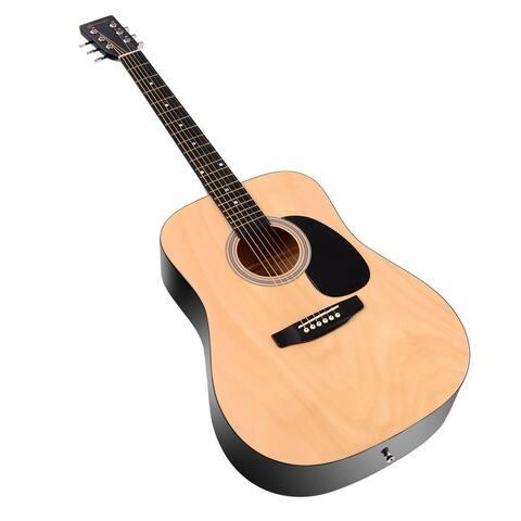 "Sonart 41"" 6 Strings Acoustic Folk Guitar-Natural - Natural"