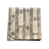 Sophia Sam Baby Gray Tree Pattern Organic Cotton Swaddle Blanket - One Size
