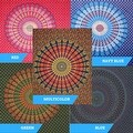 Handmade Sanganer Mandala Peacock 100% Cotton Tapestry Tablecloth Bedspread in Red Blue & Green colors in Twin & Full sizes - Thumbnail 0