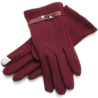 Mad Style Wine Audrey Texting Gloves