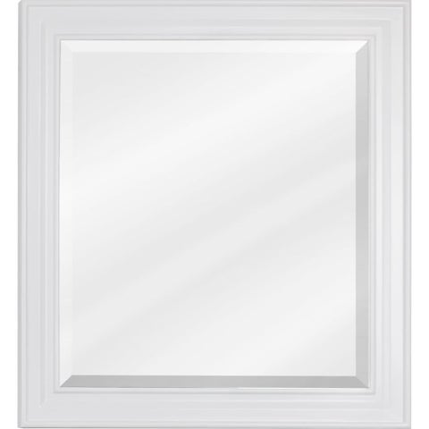 Elements MIR059 22 x 24 Inch Framed Rectangular Vanity Mirror with Beveled Glass from the Alder Collection - White - N/A