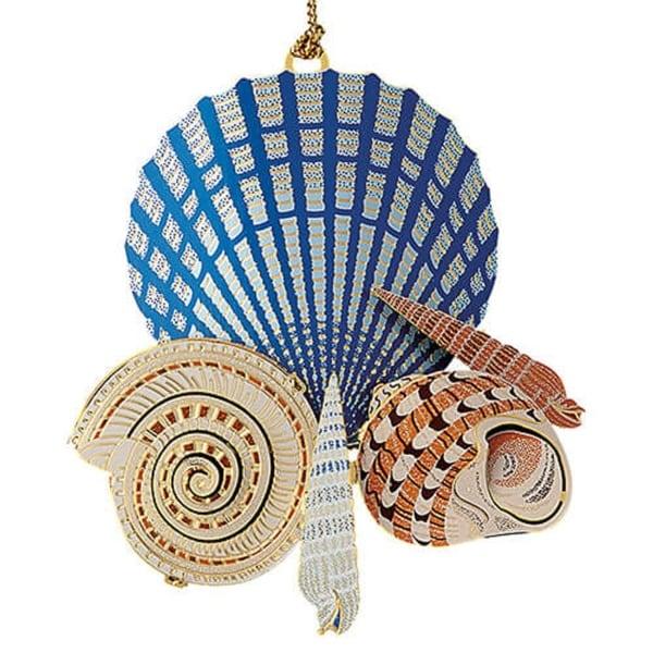 "ChemArt 2.5"" Collectible Keepsakes Seashells on the Shore Christmas Ornament - multi"