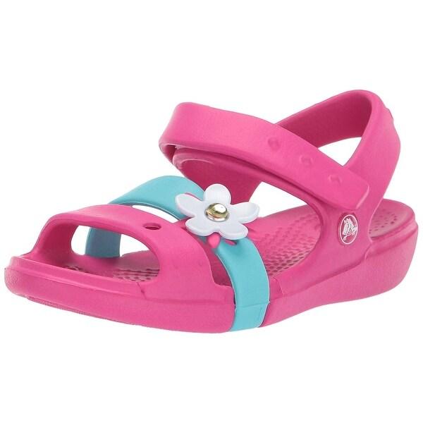 9008177d3 Shop Crocs Kids' Girls Keeley Charm Sandal - 4 Toddler - Free ...