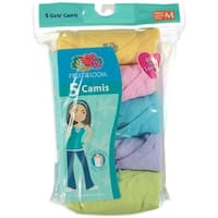 Fruit of the Loom Girls 4-12 Camisoles - 5 Pack