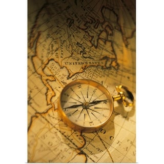 """""""Compass and map"""" Poster Print"""