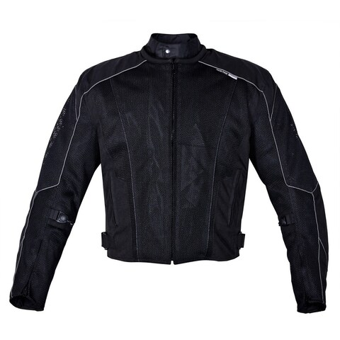 Men's Dallas Textile Motorcycle Jacket WaterProof Black MBJ054