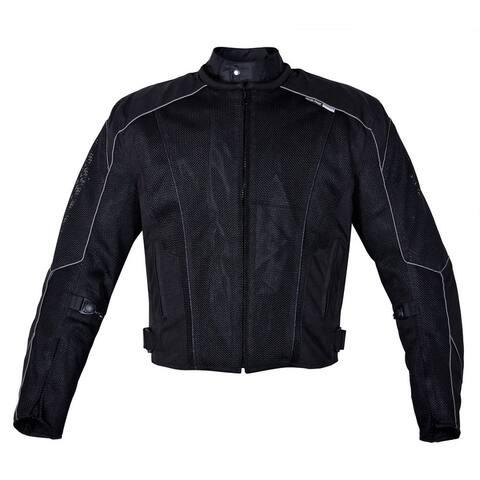 Men's Dallas Textile Motorcycle Jacket WaterProof Black MBJ054