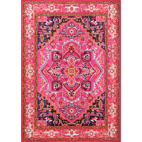 The Curated Nomad Marcela Floral Medallion Area Rug