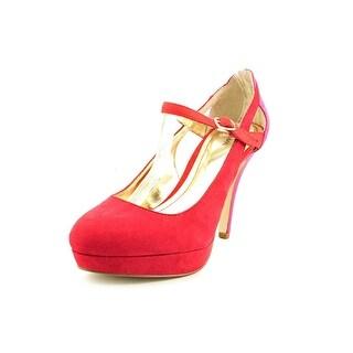 Style & Co Jeannie Open Toe Canvas Platform Heel