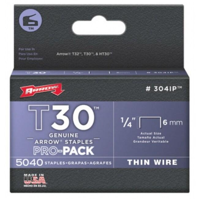Arrow Fastener 304IP Wire Staple, 1/4 Thin, 5040-Pack