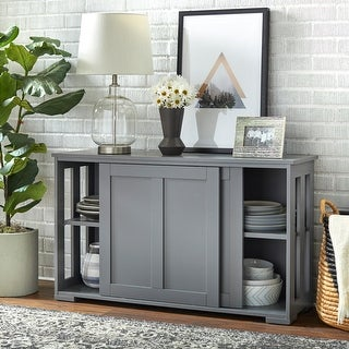 Porch & Den Jefferson Sliding Door Stackable Cabinet