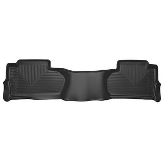 Husky X-act Contour 2015-2016 GMC Sierra 2500/3500 HD DoubleCab 2nd Row Black Rear Floor Mats/Liners