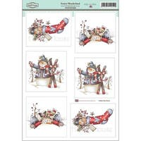 "Festive Wonderland-Daisy Mae Draws Topper Sheet 8.5""X12.2"""