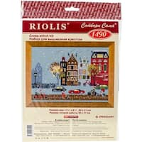 """Cycle Lane Counted Cross Stitch Kit-11.75""""X8.25"""" 14 Count"""