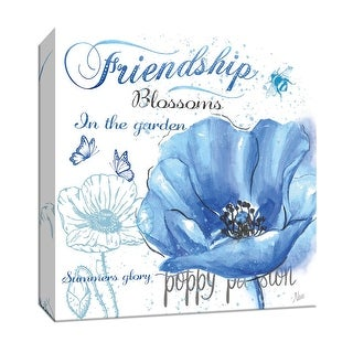 "PTM Images 9-147148  PTM Canvas Collection 12"" x 12"" - ""Garden Friendship"" Giclee Flowers Art Print on Canvas"