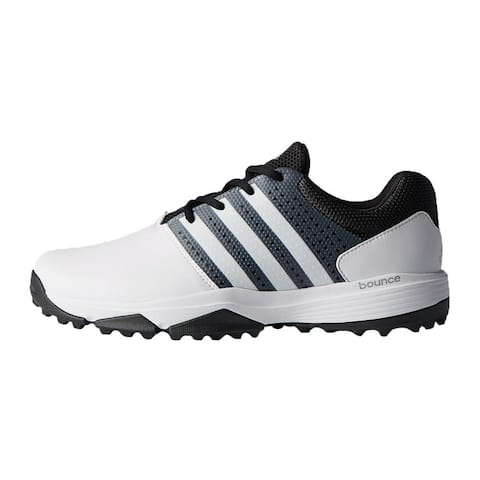 New Men's Adidas 360 Traxion Golf Shoes White/Black/Met. Silver Q44994