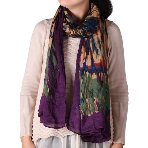 Richie House Women's Wild Multi-Colored Scarf - Multicolored - size: length 190cm x width 100cm