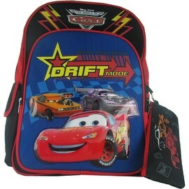 Disney Officially Licensed Pixar Cars Backpack & Pencil Case