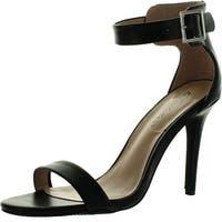 Breckelles Sydney-31 Womens Open Toe Stiletto High Heel Single Sole Ankle Strap Sandal - Natural