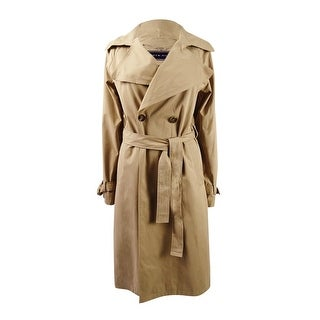 Tommy Hilfiger Women's Double-Breasted Trench Coat - Caramel