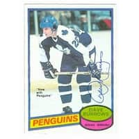 Dave Burrows Autographed Hockey Card Pittsburgh Penguins Toronto
