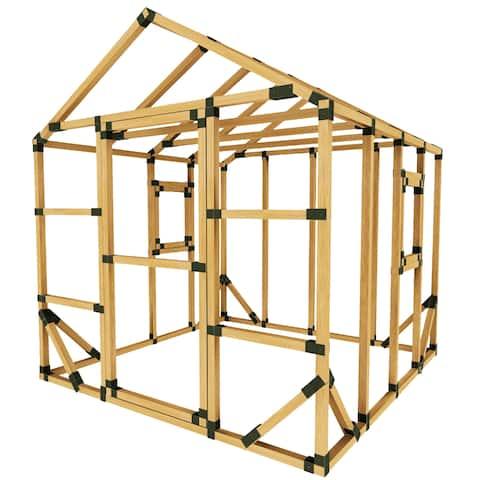 DIY E-Z Frame 8X8 Playhouse Kit - 8'x8'