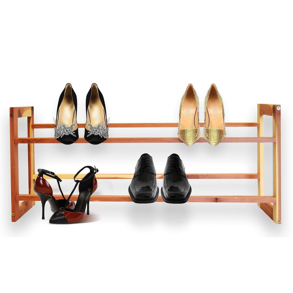 Cedar Green Two-Tier Aromatic Cedar Shoe Rack