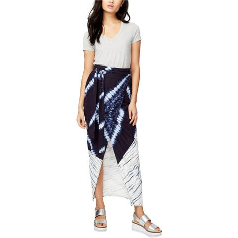 Rachel Roy Womens Linen Wrap Skirt