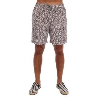 Dolce & Gabbana Dolce & Gabbana Beige Print Beachwear Shorts