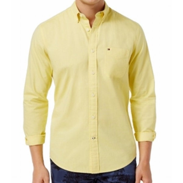 b9d62cfb Shop Tommy Hilfiger NEW Yellow Mens Size XL Button Down Classic-Fit Shirt -  Free Shipping On Orders Over $45 - Overstock - 21797929