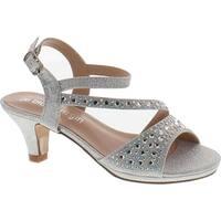 De Blossom Girls K-Stella-2 Stunning Strappy Dress Heel Metallic Party Shoes