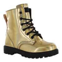 Gotta Flurt Girls' Luna G Boot Gold Patent Pu/Black