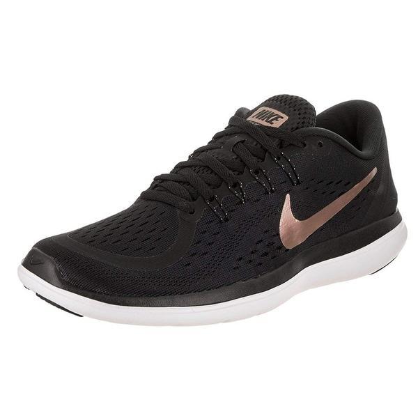 new product 94406 58cc3 Nike Womens Flex 2017 Rn Black Mtlc Red Bronze Running Shoe 8.5 Women