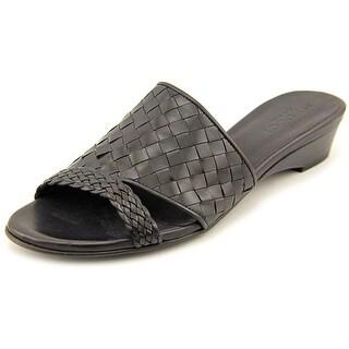 Sesto Meucci Gemini Women Open Toe Leather Slides Sandal