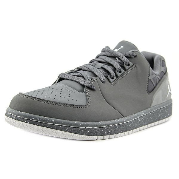 Jordan Jordan 1 Flight 3 Low Prem Men Round Toe Synthetic Gray Sneakers