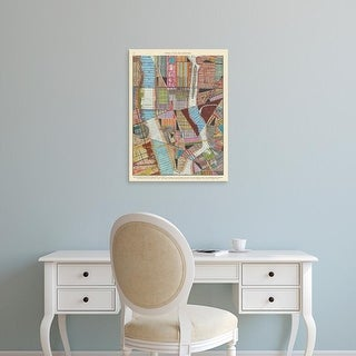 Easy Art Prints Nikki Galapon's 'Modern Map of New York II' Premium Canvas Art
