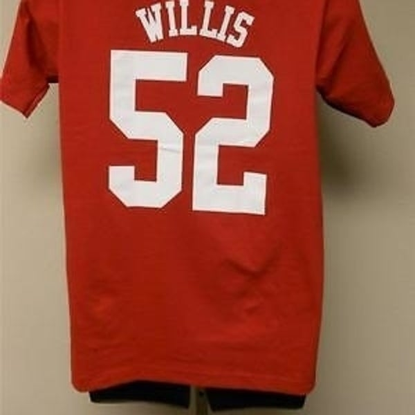 2bc86f0c #52 PATRICK WILLIS SF FORTY-NINERS 49ERS SMALL S Reebok SHIRT 18TV