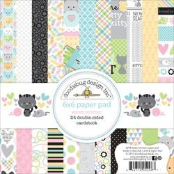 "Kitten Smitten; 12 Designs/2 Each - Doodlebug Double-Sided Paper Pad 6""X6"" 24/Pkg"