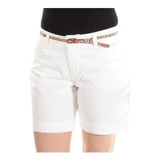 LEE Womens New 1334 White Straight leg Casual Short 4 Petites B+B