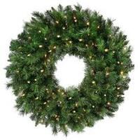 "- New Zealand Pine Wreath 24"" 170 Tips"