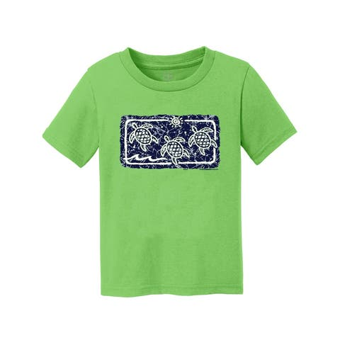 Gravity Trading Turtle Ocean Wave Youth Short-Sleeve T-Shirt