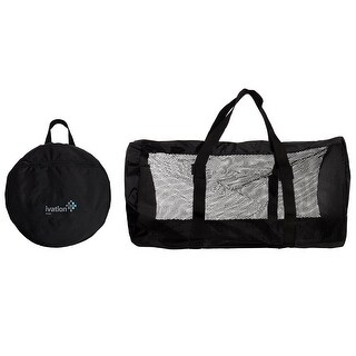 Ivation Dive Bag - Compact, Durable Mesh Duffel Bag Features Storage Pouch for Diving, Scuba, Snorkel, Swim, Surf, Sports & More