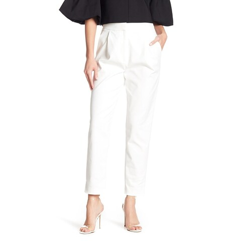 Tibi White Ivory Women's Size 8 Agathe High Waist Pleated Trousers