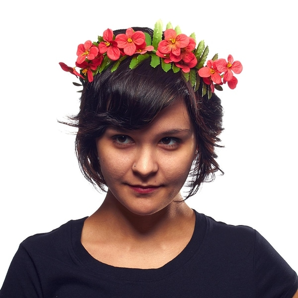 Hippie Love Flower Garland Crown Hair Wreath