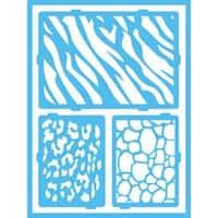 "Safari - Americana Gloss Enamel Stencils 8""X6"""