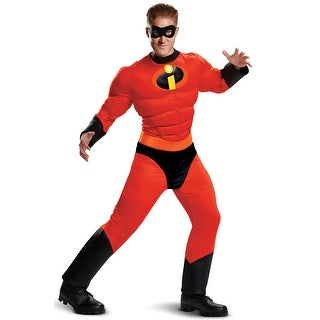 Disguise Mr. Incredible Classic Muscle Adult Costume - Red/black - xx-large (50-52)