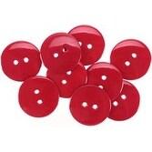 """Cranberry 7/8"""" - Large Color Buttons 8/Pkg"""