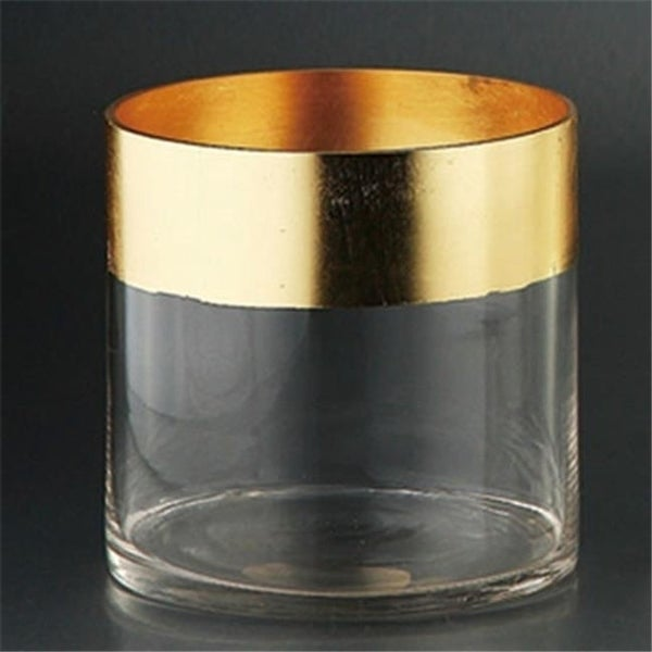 Diamond Star 84106GO 6 x 6 in. Cylinder with Gold Edge Gold